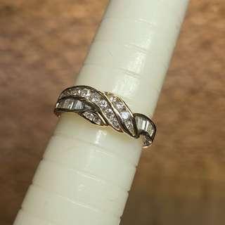 18kt diamond ring 周生生
