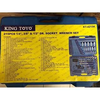 King Toyo 215 PCS DR. Socket Wrench Set