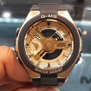 SPECIAL EDITION CASIO BABYG GMS DIVER WATCH : 1-YEAR OFFICIAL WARRANTY : 100% ORIGINALLY AUTHENTIC BABY-G Shock Resistant in BLACK-GOLD MULTI-BAND 6 & TOUGH SOLAR Best Gift For Most Rough Users MSG-400G-1A2DR / MSG-400