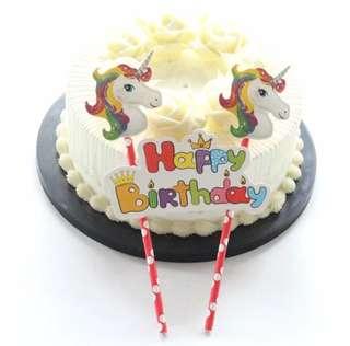 🌈 Unicorn theme party supplies - DIY Cake deco / cake topper / birthday deco
