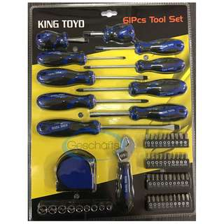 King Toyo 61Pcs Screwdriver Tools Set