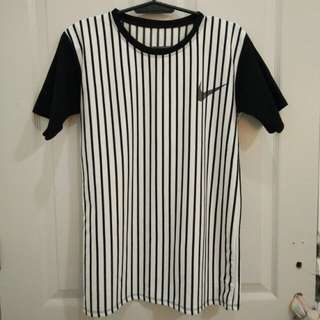 Unisex stripes long tee