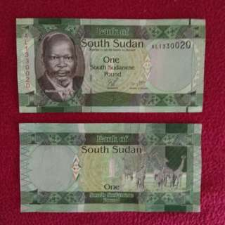 South sudan 1 pound