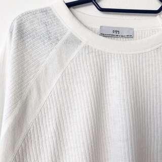 Zara Ribbed Long Sleeve Shirt