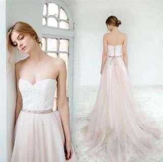 粉紅色婚紗 紗裙 Wedding Dress