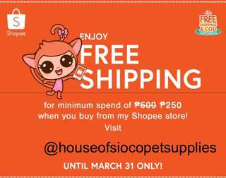 Free shipping @ Shopee!