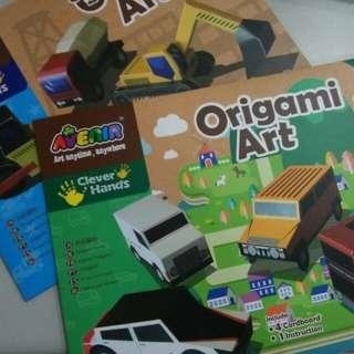 Origami Art 4 Cardboard + 1 construction