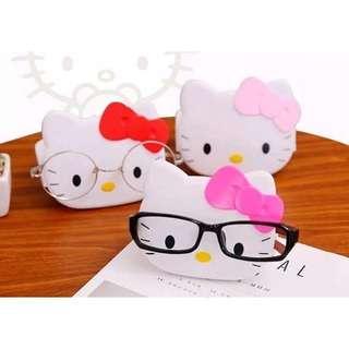 (現貨)kitty玫紅色眼鏡支架