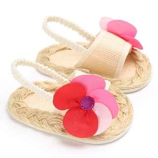 籐編嬰兒學步涼鞋