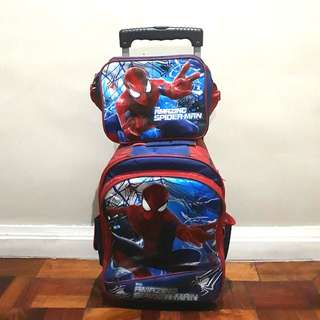 Spider-Man Trolley School Bag