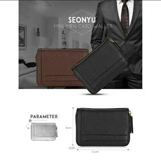 SEONYU Multiple Layers Card Wallet Coin Purse for Men