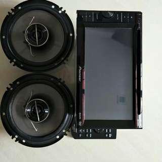 Car/van dvd and speaker and woofer and am