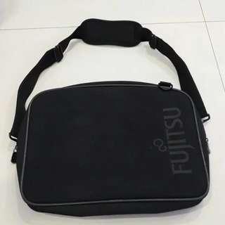 Authentic Fujitsu Black Laptop Bag w Handheld and Off Shoulder Sling