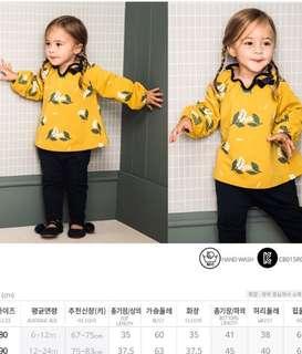 現貨)韓國童裝 PIMPOLLO  兩件式 可愛領口設計