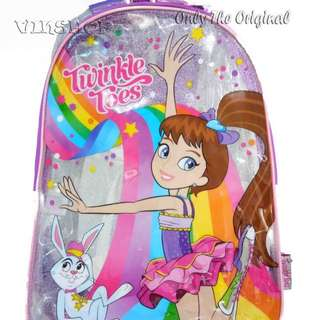 SKECHERS TWINKLE TOES BRIGHT COMBO BACKPACK. 100% ORIGINAL