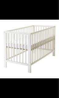 Ikea嬰兒床+床墊