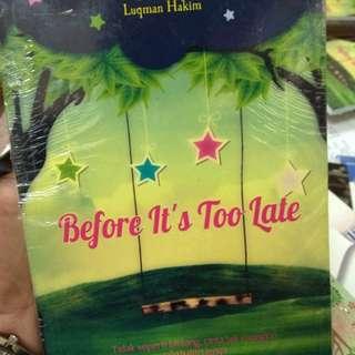 Novel before it's too late