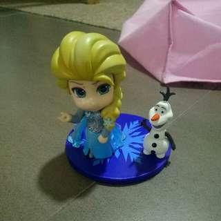Elsa Olaf cake topper