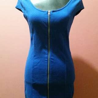 Navy blue divided dress