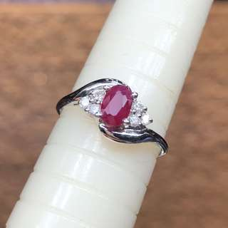 14kt ruby diamond ring