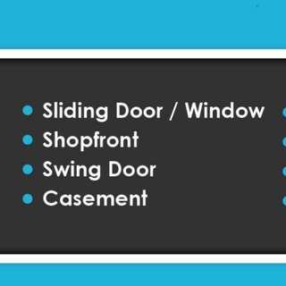 Membuat dan membaiki tingkap dan pintu aluminium