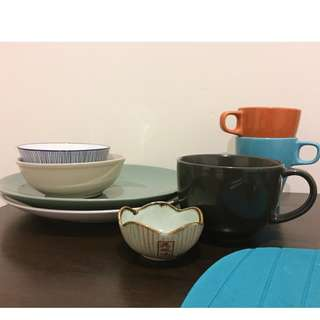 QUALITY plates and mugs etc (can buy individually)