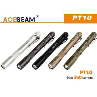 AceBeam PT10 美國名廠 CREE XP-L HD W2 360流明 LED Penlight Flashlight 電筒 ( AAA ) - 原裝行貨