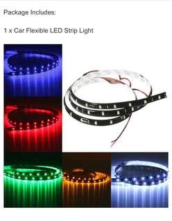 Car Flexible Waterproof RGBY3528 1210 SMD LED Strip Light 90cm 12V