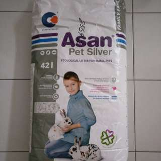 Asan Pet Silver 42L (Ecological Litter for Small Pets)