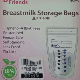 BN Baby's friends Breast milk storage bag