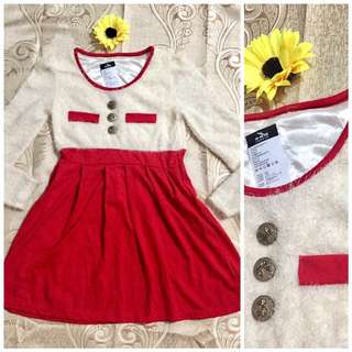 Red and White Winter Dress