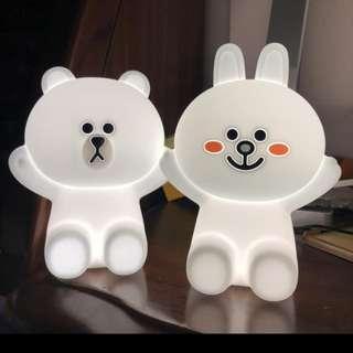 Line friends 熊大 cony 小夜燈 台灣直送