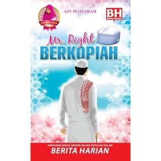 Novel Ain Maisarah Mr. Right Berkopiah Blink Book SDN BHD