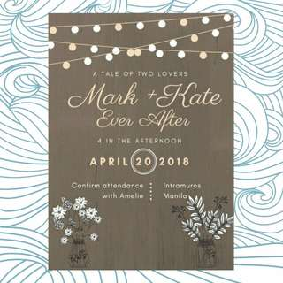Bohemian invitation #rustic #wedding #debut #18birthday #birtday