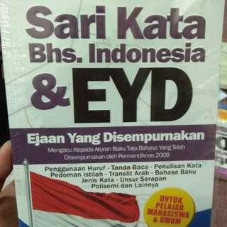 Sari kata bahasa Indonesia dan EYD