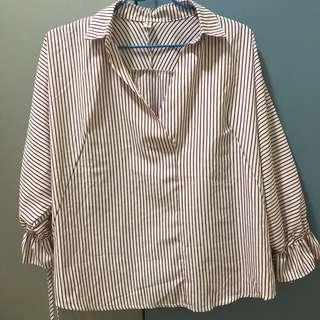 二手‼️韓版後背開叉襯衫