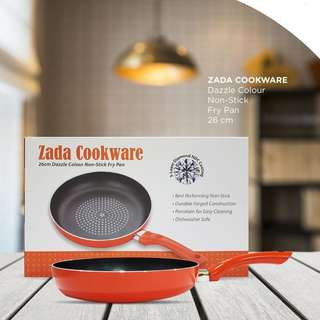 NEW Zada Cookware Dazzle Colour 26cm Non-Stick Fry Pan