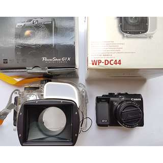 Canon G1X with Canon WP-DC44 Under Water Case Trade OK