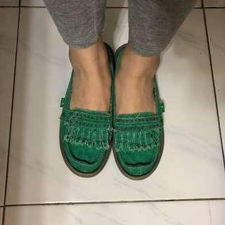 Sanuk 民族風 流蘇娃娃鞋 usa 8/ eur 39