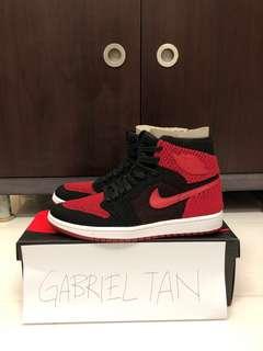 $190!!!! BN Nike Air Jordan 1 Flyknit Bred, BAPE City Camo Glow in the Dark Shark Tshirt Size M