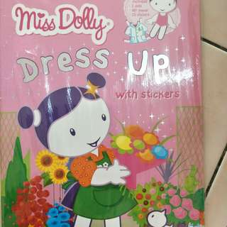 Miss Dolly dress up with stickers
