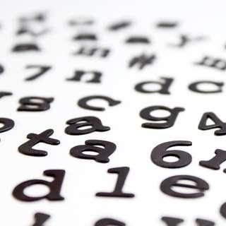 DIY字母冰箱磁石貼 alphabet fridge magnetic sticker