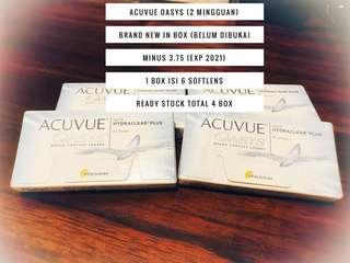 [JUAL RUGI] Acuvue Oasys -3.75 Brand New in Box