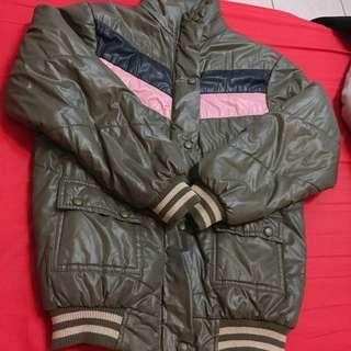 墨綠鋪棉外套