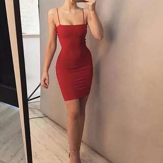 Tavia bodycon spaghetti strap mini party dress