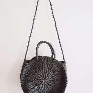 Black Abaca Bag