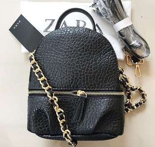 Original Zara Backpack Croco