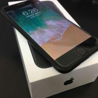Apple iphone7 128g 霧黑 3/23開通 未使用