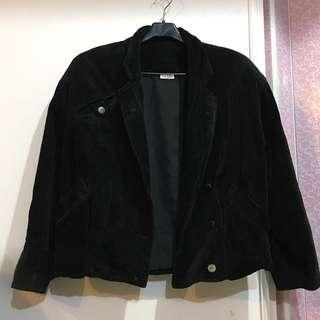 🔥便宜賣🔥 古著 黑色燈芯絨寬鬆短版外套