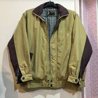 🔥便宜賣🔥 古著 卡其色紫色拼接寬鬆夾克外套
